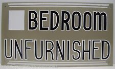 Vintage Bedroom Unfurnished Sign apartment home cabin rental advertising sign