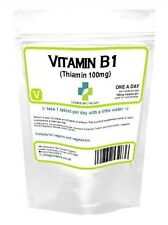 VITAMIN B1Thiamin Thiamine 100 tablets 100mg, neuritis energy Metabolism UK MADE
