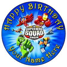 """Marvel Super Hero Squad - 7.5 """"Personalizadas Ronda Comestibles Glaseado Cake Topper"""