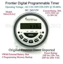 Frontier Digital Timer Multipurpose  Programmable Timer TM619-2H- Made in Taiwan