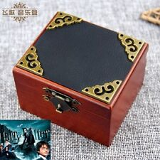 Vintage Square Black Cover Wind Up Music Box  : Harry Potter Hedwig's Theme Song