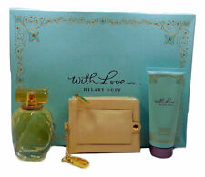 WITH LOVE BY HILLARY DUFF 3 PIECE GIFT SET WITH EDP SPRAY 100 ML/3.3 FL.OZ. (D)