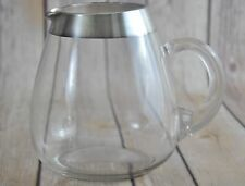 Vtg Dorothy Thorpe Roly Poly Silver Rim Cocktail Pitcher Mad Men Mid Century