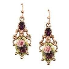1928 Jewelry Manor House Rose Gold Floral Flower Filigree Drop Earrings 24388
