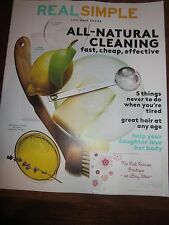 REAL SIMPLE MAY 2015 LIFE MADE EASIER MAGAZINE ALL-NATURAL CLEANING BRAND NEW
