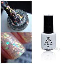 BORN PRETTY Glitter Sequins UV Gel Polish 5ml Clear Nail Art Soak Off Manicure