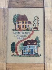 Good Friends...counted cross stitch pattern leaflet, fabric, & floss lot
