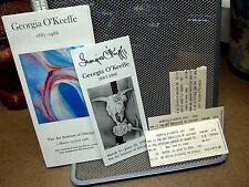 GEORGIA O'KEEFE ticket-stubs Art Institute of Chicago 1988 w/ brochures