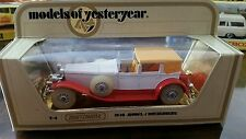 EXTREMELY Rare MOY MATCHBOX LESNEY MODEL OF YESTERYEAR Y-4-1 DUESENBERG MINT