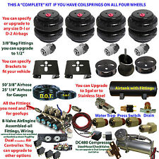 Air Suspension Kit-COMPLETE kit Cadillac Coils Front/Rear See Descrip below