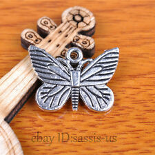 30pcs 22mm Charms Butterfly Pendant Tibet Silver DIY Jewelry Charm Bail A7357
