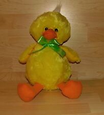 Just For You Yellow Duck Stuffed Animal Plush Green Bow SKP