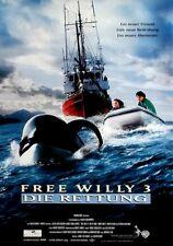 FREE WILLY 3 - DIE RETTUNG - 1997 - Filmplakat - Orka - Richter - Schellenberg
