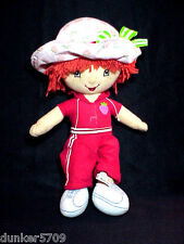 STRAWBERRY SHORTCAKE PLUSH DOLL 13 IN TALL 2006 JOGGING WORKOUT SUIT KELLYTOY