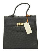 Ostrich Skin Small Dark Green Handbag by Karoo Klassiques RRP £200