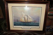 Legendary Yachts of Racing Madeline v Countess of Dufferin Signed Lithograph
