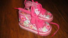 LELLI KELLY 21 US 5 PINK FLORAL BEADED BOOTS SHOES