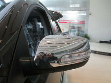 Triple Chrome Side Mirror Cover Fit for 2013-2014 KIA Sorento with Turning Light