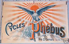 DIDOT AFFICHE ANCIENNE  CYCLES PHEBUS PRÉ ST GERVAIS