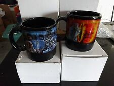 2 LORD OF THE RINGS MUGS - TWO DESIGNS!! NEW IN BOX! BY APPLAUSE & NEW LINE