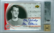 2003-04 UD TRILOGY GORDIE HOWE AUTO CUSTOM SCRIPTS #CSMH2 MR. ELBOWS BGS 9