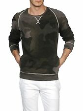DIESEL SICAK CAMOUFLAGE SWEATER SIZE L 100% AUTHENTIC
