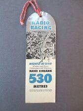 Vintage BOOKMARK IRISH Racing Radio Eireann Ladbroke & Co Bookmakers Advertising