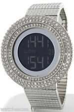 King Master Men's 65ct Lab Made Diamond Full Case & Band Digital Watch GU365