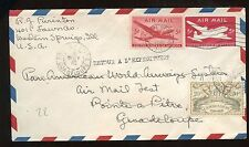 US Pan AM Test Flight Mixed Franking Cover Western Springs, Ill to Guadeloupe