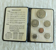 SINGAPORE 1969 6 COIN UNCIRCULATED MINT SET - black wallet