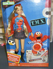 2006 T.M.X. Tickle Me Elmo & Barbie Doll Special Edition Sesame Street NRFB MIB
