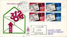 Repubblica Italiana 1967 FDC Venetia Club Codice Avviamento Postale Racc. (E)