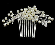Accessoires Pour Cheveux Mariage Mariée Parure Perle Zirconia Bibi La Tête