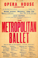 METROPOLITAN BALLET - THE WEEK ROMEO & JULIET ARRIVED IN HULL - THEATRE POSTER