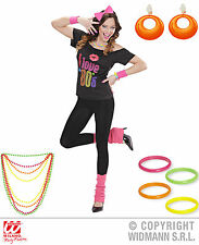 11 PCS.Set 1980s Years Costume NEON Hairband,Chain Bangle bracelet Ear clips