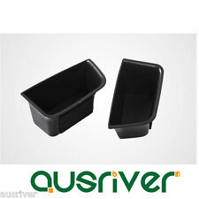 New 2Pcs Front Car Door Auto Armrest Storage Box Glove for Porsche Macan Decor