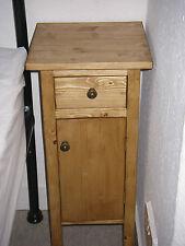 H60 W30 D30cm BESPOKE CUPBOARD + DRAW BEDSIDE HALL BATHROOM WARM OAK WAXED PINE