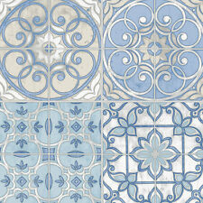 "12""/31cm Wallpaper SAMPLE Pretty Mosaic Tiles in Blue"