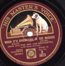 Jack Hylton Orchester : When It's Springtime in the Rockies  + Around the Corner