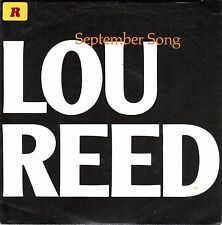 "7"" Lou Reed – September Song // Germany 1985"