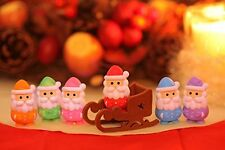 Iwako Santa Claus & Sleigh Japanese Erasers (7 pieces) from Japan (3c05A)