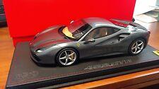 1:18 BBR 2015 Ferrari 488 GRIGIO FERRO 322 85th Geneve Motor Show