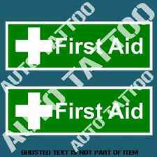 FIRST AID KIT DECAL STICKER SET FOR MEDICINE BOX COMMERCIAL OH&S WARNING STICKER