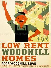 VINTAGE pubblicità basse affitto woodhill CASE Arte Poster Stampa lv4538