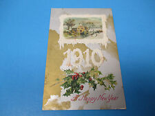 Happy New Years 1909 Postmarked Vintage Color PC31