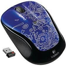 Logitech M325 Wireless Mouse - Blue Topography w/unifying receiver PC Mac