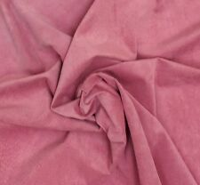 PIG SKIN SUEDE LEATHER 6.8 SQFT BARBIE PINK 0.5MM THICK  SOFT VELOUR FEEL L4C
