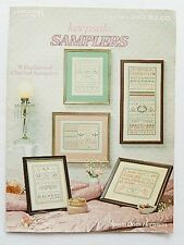 Leisure arts notice 280-souvenir samplers - 9 cross stitch charts/patterns