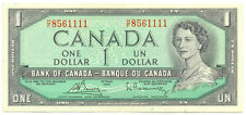 Bank of Canada 1954 $1 One Dollar Bouey- Rasminsky H/F Prefix Good VF