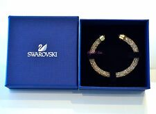 Swarovski Crystaldust Cuff Bangle Golden S 5255897 Authentic Brand New In Box